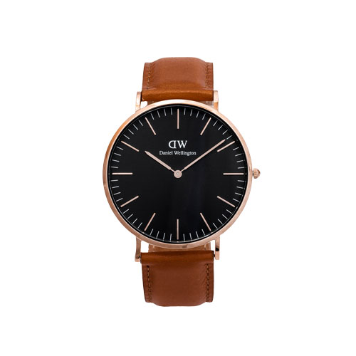 Korting Daniel Wellington DW00100126 Black Durham (40 mm) herenhorloge 42 procent